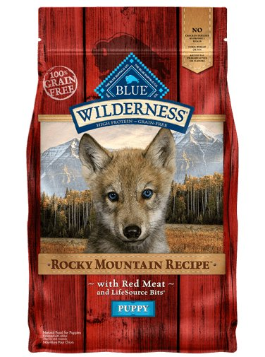 Blue Buffalo Blue Buffalo Wilderness Rocky Mountain Recipe with Red Meat Dry Puppy Food 22 Lb.