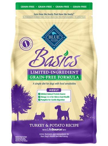 Blue Buffalo Blue Buffalo Basics Limited Ingredient Grain Free Turkey & Potato Dog Food 24 Lb.