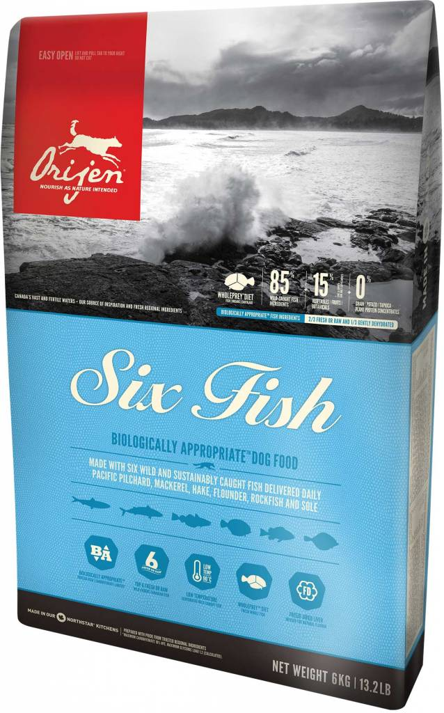 Orijen Orijen 6 Fish Grain-free Formula Dry Dog Food 25 Lb.