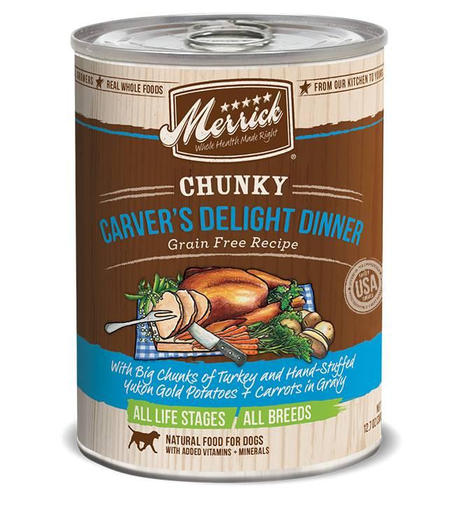 Merrick Merrick Grain Free Chunky Carver's Delight Canned Dog Food 12/12.7oz