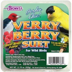 F.M Browns F.M. Brown's, Garden Chic Verry Berry Suet  8/cs