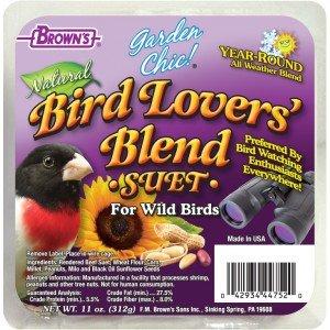 F.M Browns F.M. Brown's Garden Chic Bird Lover's Blend Suet 8/cs