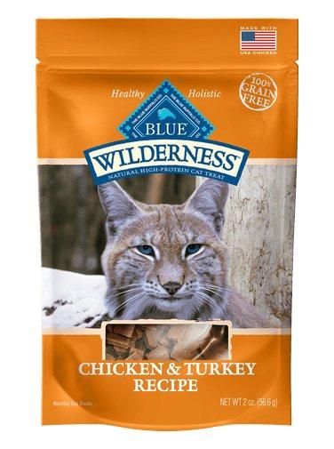 Blue Buffalo Blue Buffalo Wilderness Grain Free Cat Treats Chicken & Turkey 2oz