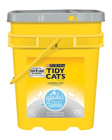 Tidy Cat Tidy Cats Scoop Cat Litter With Glade for Multiple Cats 35 Lb. Pail