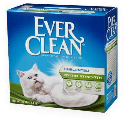 Everclean Cat Litter Ever Clean Extra Strength Unscented Cat Litter 25 Lb.