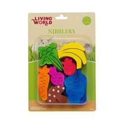 Hagen Hagen Living World Nibblers Wood Chews Fruit/Veggie Mix