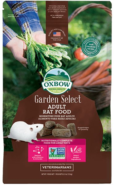 Oxbow Pet Products Oxbow Garden Select Adult Rat Food 2.5 Lb.