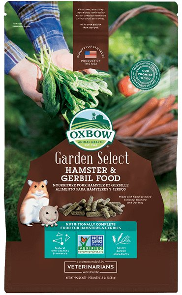 Oxbow Pet Products Oxbow Garden Select Hamster & Gerbil Food 1.5 Lb.
