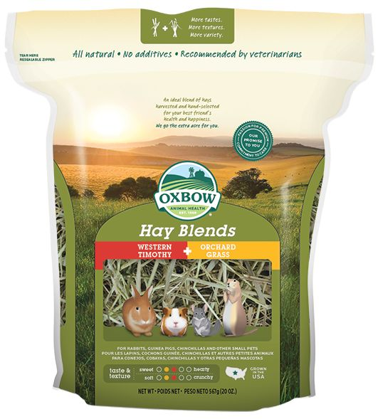 Oxbow Pet Products Oxbow Hay Blends Western Timothy and Orchard 40oz