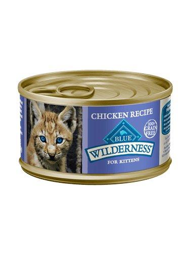 Blue Buffalo Blue Buffalo Wilderness Grain-Free Chicken Canned Kitten Food 24/3oz