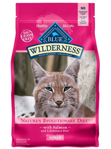 Blue Buffalo Blue Buffalo Wilderness Grain Free Salmon Dry Cat Food 5 Lb.