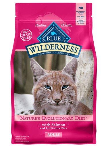 Blue Buffalo Blue Buffalo Wilderness Grain Free Salmon Dry Cat Food 5 Lb.