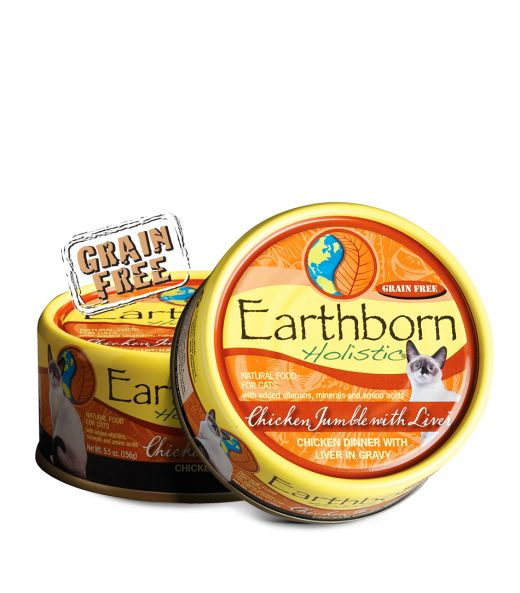 Earthborn Earthborn Holistic Chicken Jumble With Liver Canned Cat Food 24/5.5oz