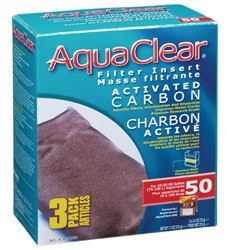 Hagen Hagen AquaClear 50 Activated Carbon Filter Insert 3pk