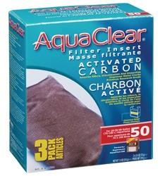 Hagen Hagen AquaClear 50 Activated Carbon Filter Insert 3pk