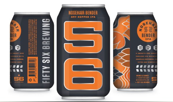 56 BREWING 56 BREWING NOSE HAIR BENDER IPA 6 PK CANS