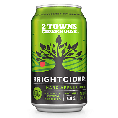 2 Towns Cider 2 TOWNS PACIFIC BRIGHTCIDER 6 PK CAN