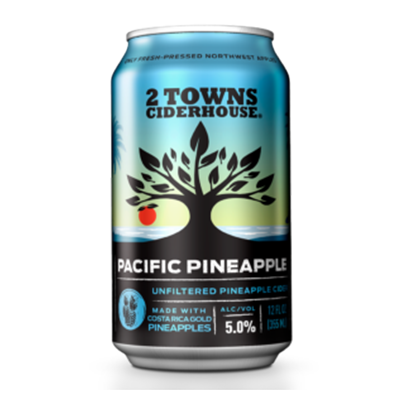 2 Towns Cider 2 TOWNS PACIFIC PINEAPPLE CIDER 6 PK CAN