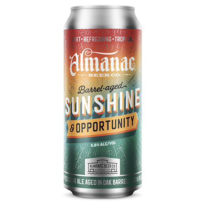 Almanac Beer Co. ALMANAC SUNSHINE AND OPPORTUNITY SAISON 4 PK CANS