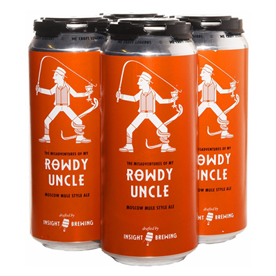 Insight Brewing INSIGHT ROWDY UNCLE MOSCOW MULE 4 PK CAN