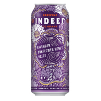 Indeed Brewing Co. INDEED LAVENDER SUNFLOWER HONEY AND DATES ALE 4 PK CAN