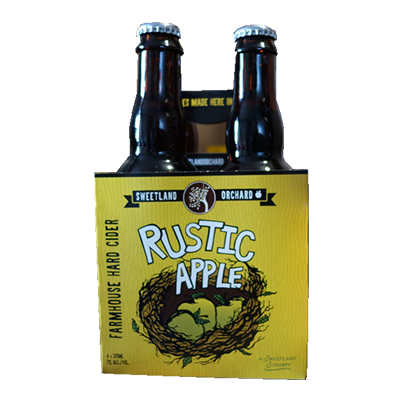SWEETLAND ORCHARD RUSTIC APPLE 4 PK BTL