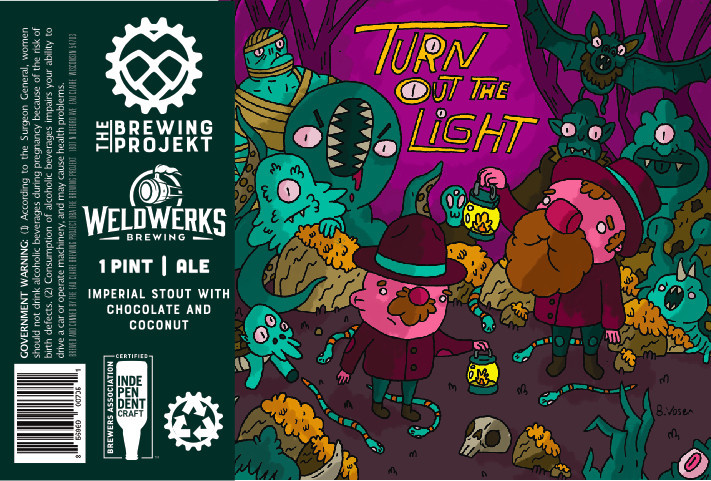 The Brewing Projekt THE BREWING PROJEKT TURN OUT THE LIGHTS IMPERIAL STOUT 4 PK CANS