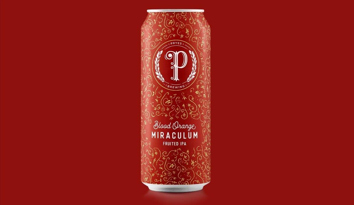 Pryes Brewing PRYES BREWING BLOOD ORANGE MIRACULUM IPA 4 PK CAN