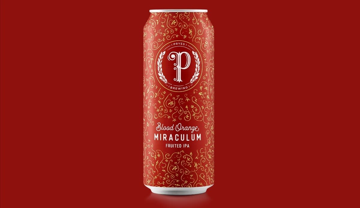 Pryes Brewing PRYES BREWING BLOOD ORANGE MIRACULUM IPA 4 PK CAN