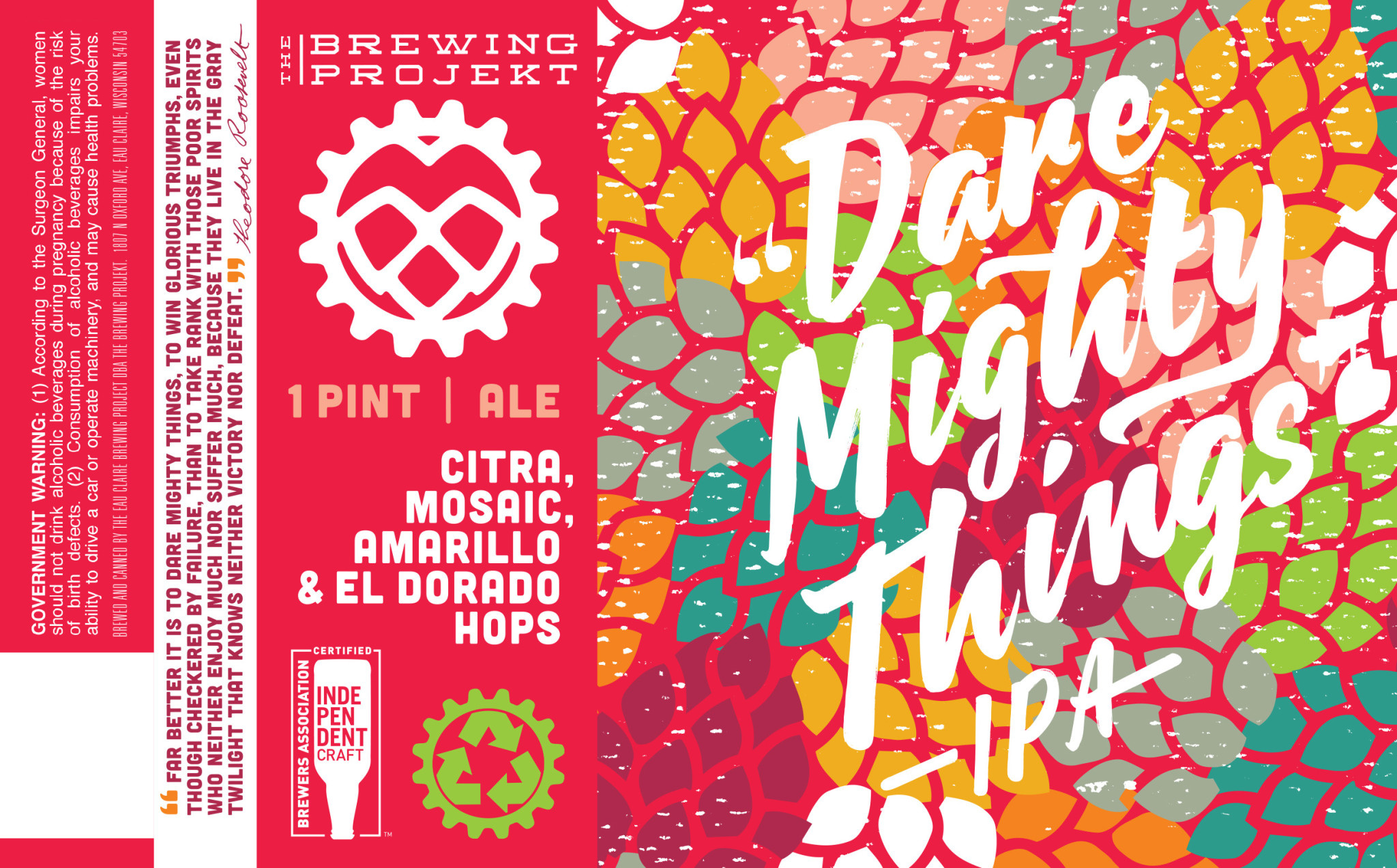 The Brewing Projekt THE BREWING PROJEKT DARE MIGHTY THINGS IPA 4 PK CANS