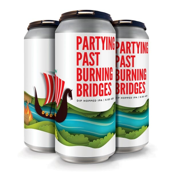 Fair State Brewing Cooperative FAIR STATE PARTYING PAST BURNING BRIDGES DIP HOPPED IPA 4 PK CANS