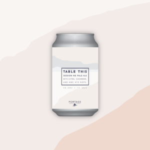 Portage Brewing PORTAGE BREWING TABLE THIS NEW ENGLAND PALE ALE 750ML CROWLER