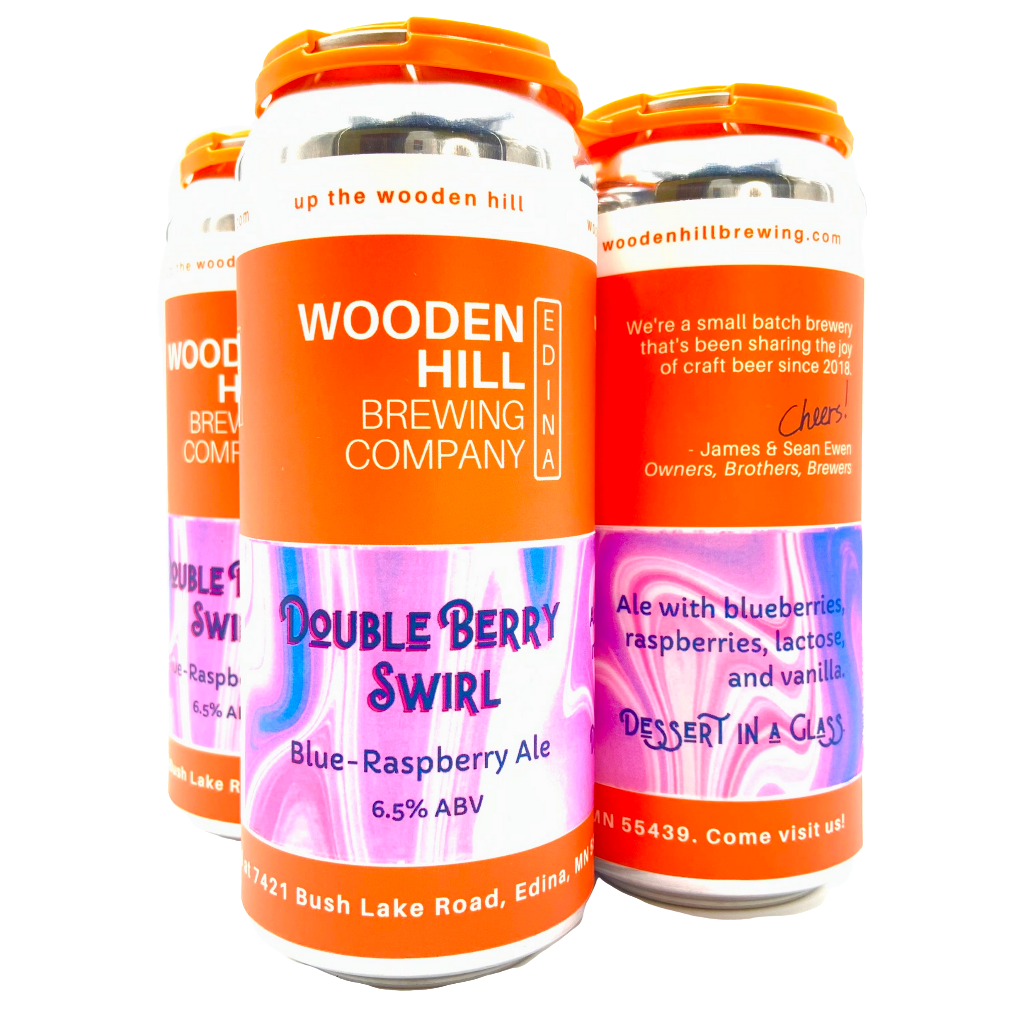 Wooden Hill Brewing Company WOODEN HILL BREWING DOUBLE BERRY SWIRL ALE 4 PK CANS