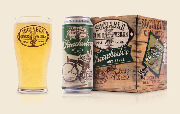 Sociable Cider werks SOCIABLE CIDER WERKS FREEWHEELER 4 PK CAN