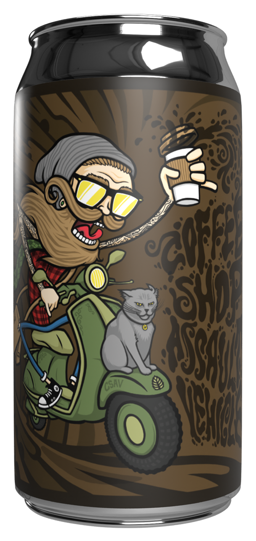 Lupulin Brewing Company LUPULIN BREWING COFFEE SHOP ASSAULT VEHICLE STOUT 4 PK CANS