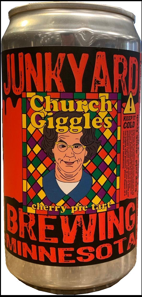 Junkyard Brewery JUNKYARD BREWING CHURCH GIGGLES CHERRY PIE TART PILSNER CROWLER
