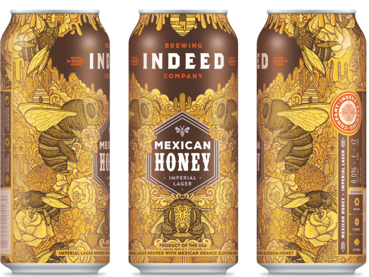 Indeed Brewing Co. INDEED BREWING MEXICAN HONEY IMPERIAL LAGER 4 PK CANS