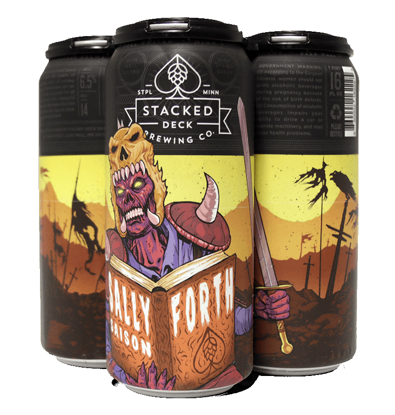 STACKED DECK BREWING SALLY FORTH SAISON 4 PK CANS