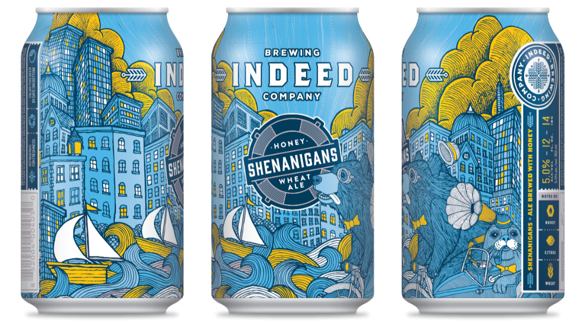Indeed Brewing Co. INDEED BREWING SHENANIGANS HONEY WHEAT ALE 6 PK CANS