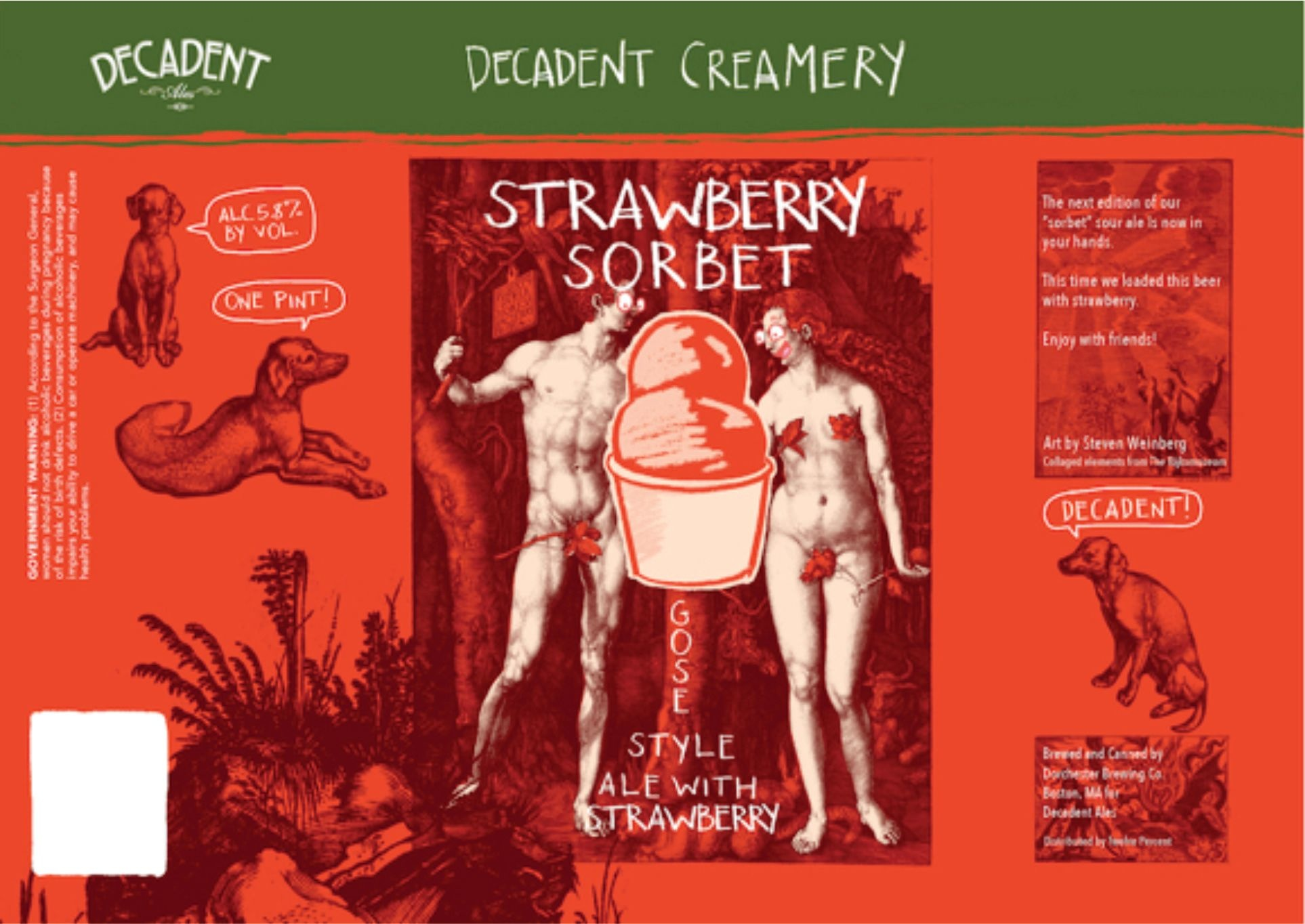 Decadent Ales DECADENT ALES STRAWBERRY SORBET GOSE 4 PK CANS