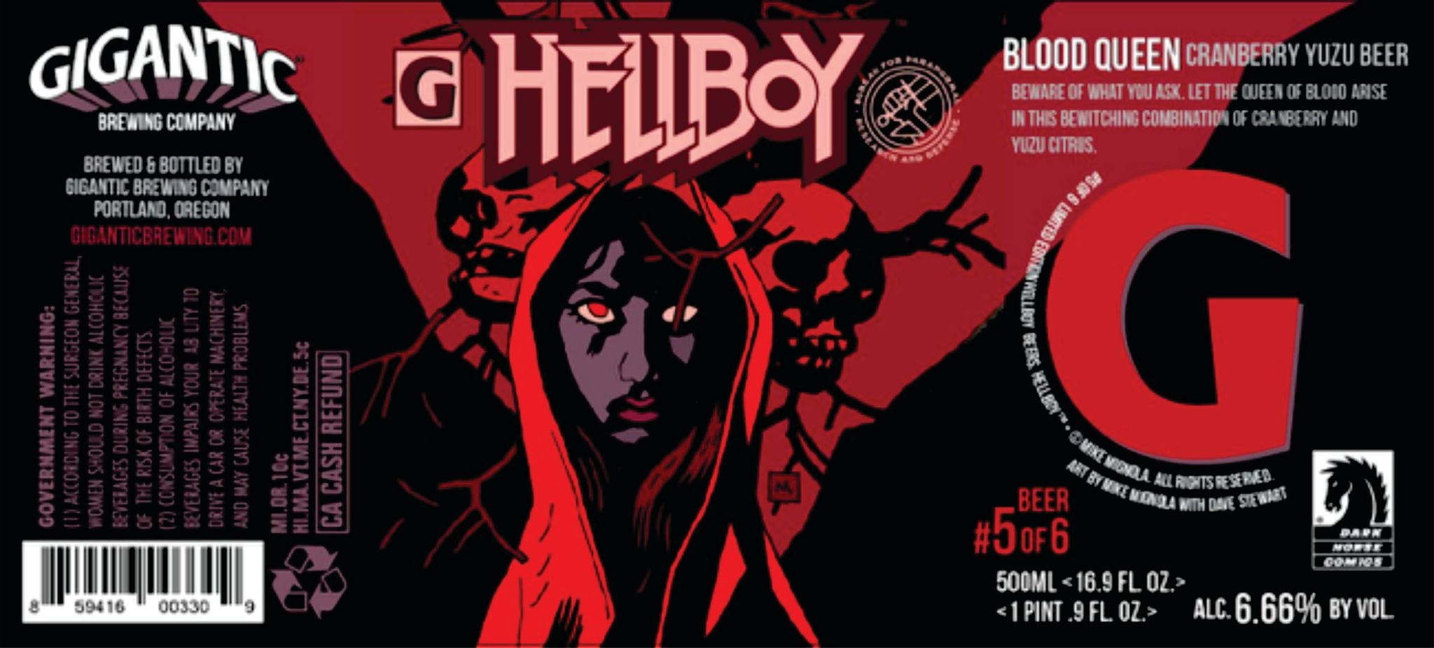 Gigantic Brewing Company GIGANTIC BREWING HELLBOY BLOOD QUEEN SOUR 500ML