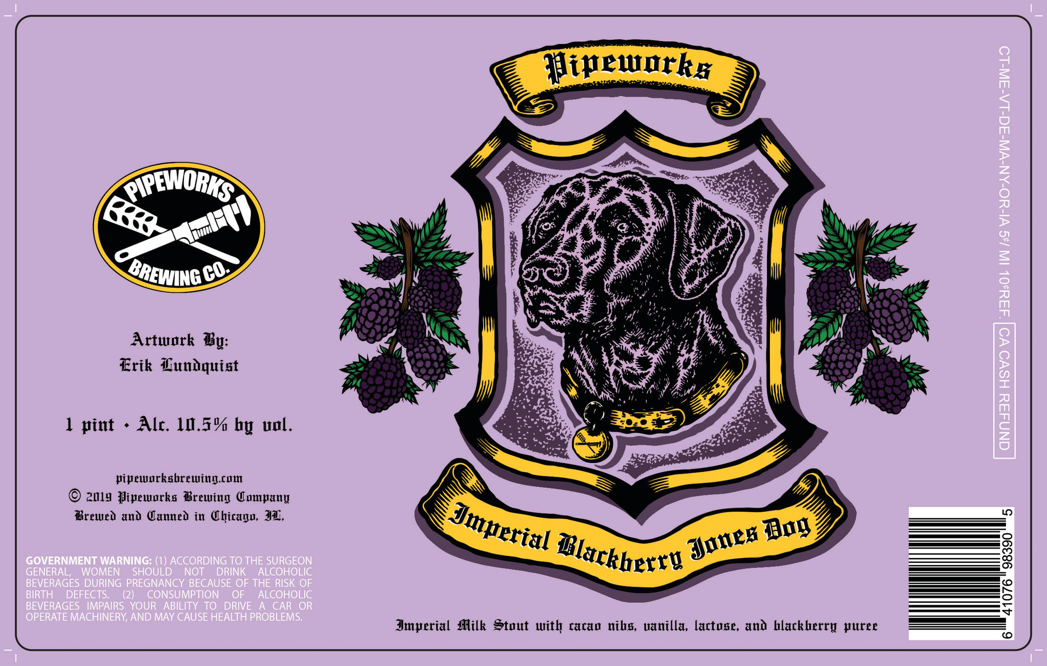 Pipeworks PIPEWORKS BLACKBERRY JONES DOG IMPERIAL STOUT 16 OZ CANS