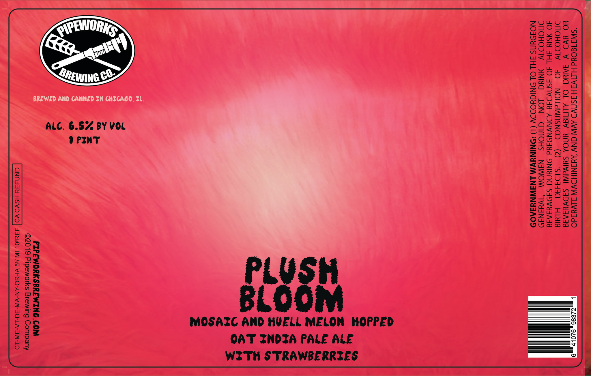 Pipeworks PIPEWORKS BREWING PLUSH BLOOM IPA 4 PK CANS