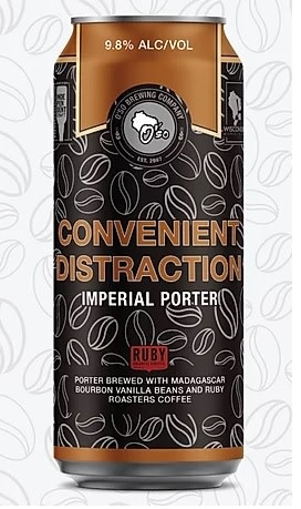 O'SO Brewing Company OSO BREWING CONVENIENT DISTRACTION IMPERIAL PORTER 4 PK CANS