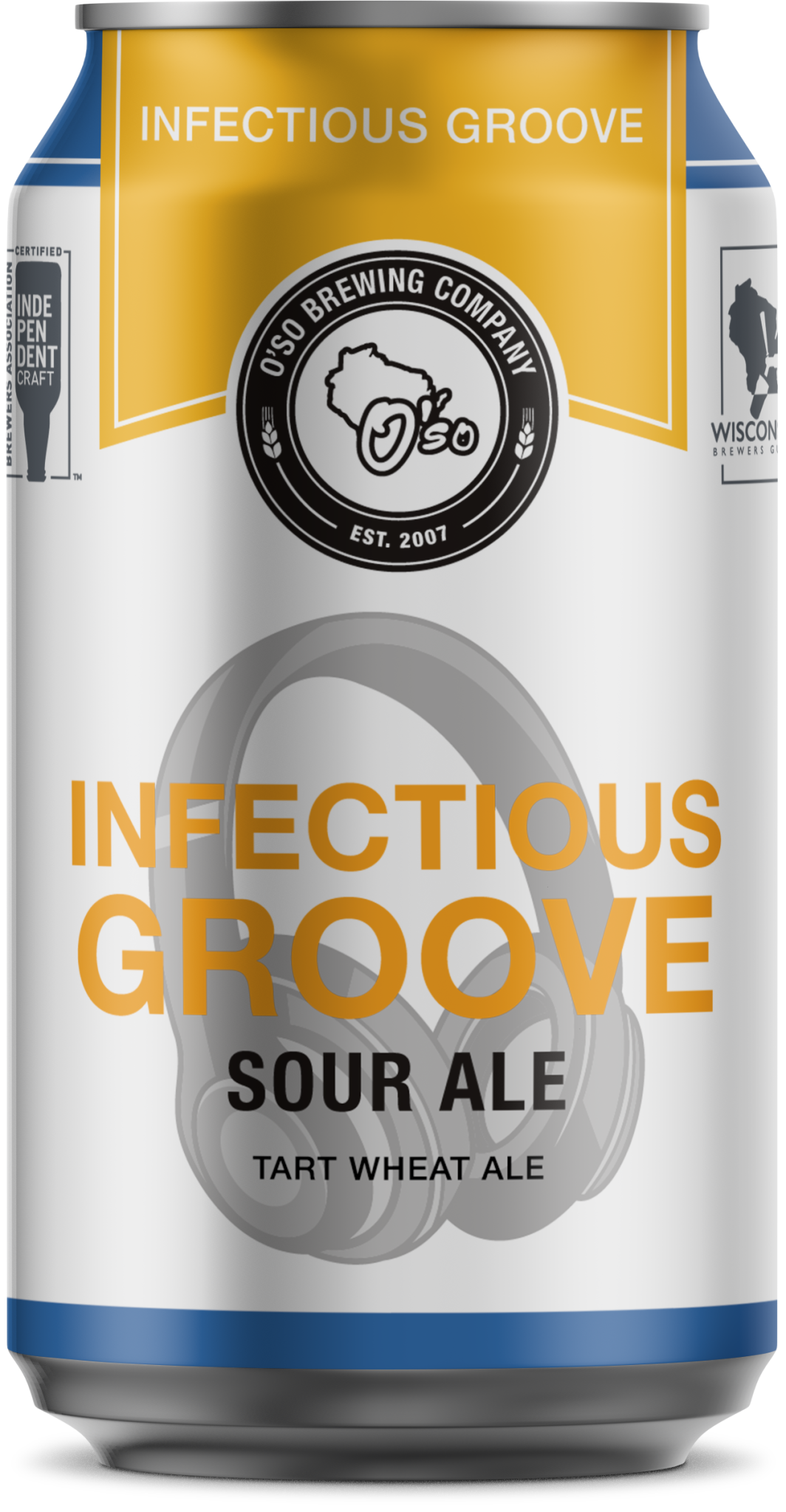 O'SO Brewing Company OSO BREWING INFECTIOUS GROOVE KETTLE SOURED BLONDE ALE 6 PK CANS