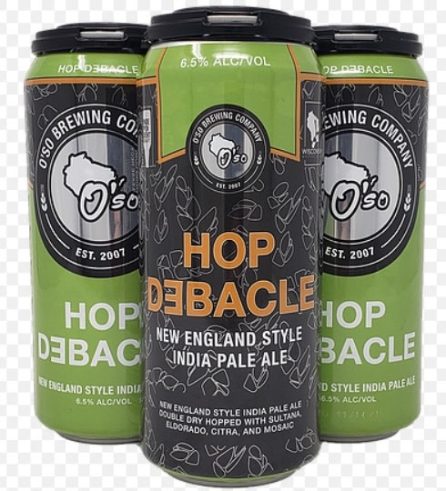 O'SO Brewing Company OSO BREWING HOP DEBACLE NE IPA 4 PK CANS