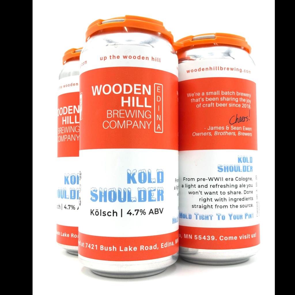 Wooden Hill Brewing Company WOODEN HILL BREWING KOLD SHOULDER KOLSCH 4 PK CANS