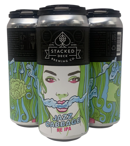 Stacked Deck Brewing Co. STACKED DECK JAZZ CABBAGE NE IPA 4 PK CANS