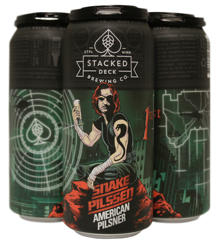 Stacked Deck Brewing Co. STACKED DECK BREWING SNAKE PILSSEN AMERICAN PILSNER 4 PK CANS