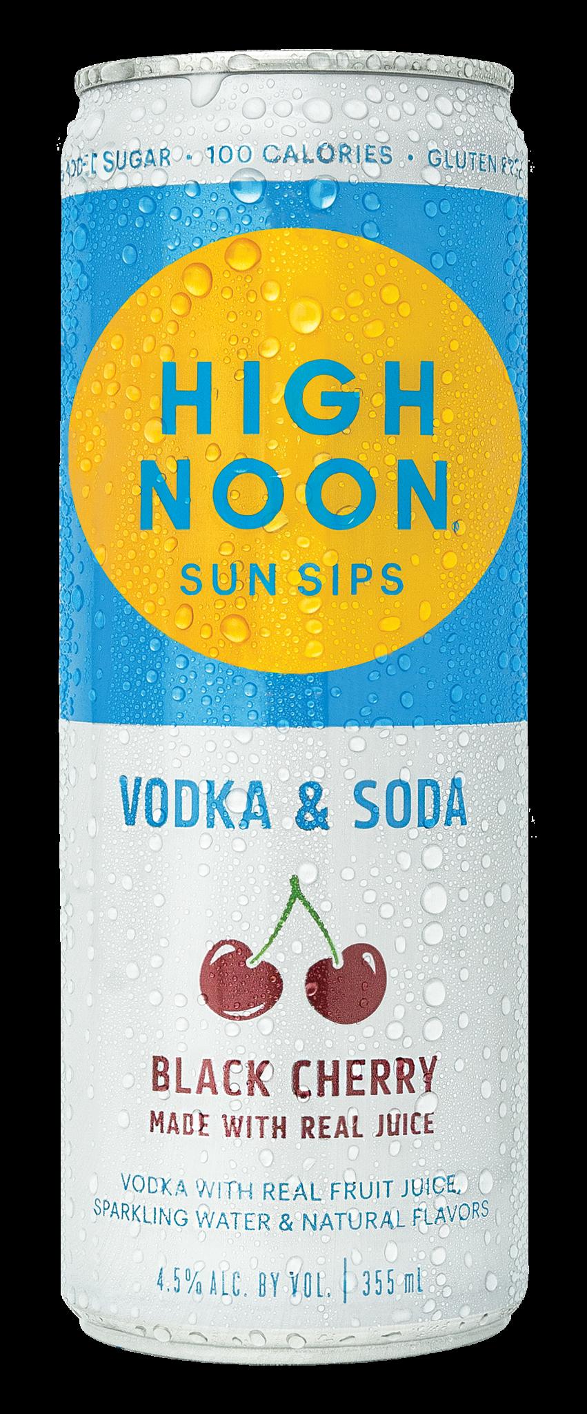 High Noon Spirits HIGH NOON VODKA SODA BLACK CHERRY 4 PK CANS